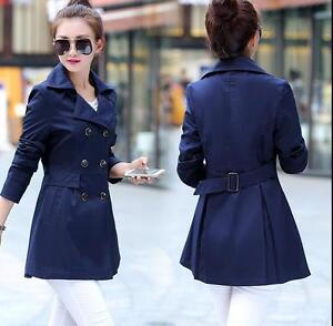 Coat Jakke Fit Casual Trench Double Breasted Collar Bælte Women Lapel Slim Lang qOC66a