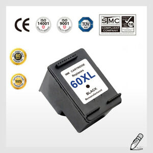 1 Pack Ink Cartridge for HP 60XL CC641WN Black for HP ...
