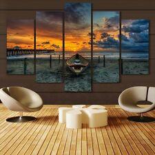 Modern Abstract Oil Painting Wall Decor Art Huge - Landscape Sunset Beach
