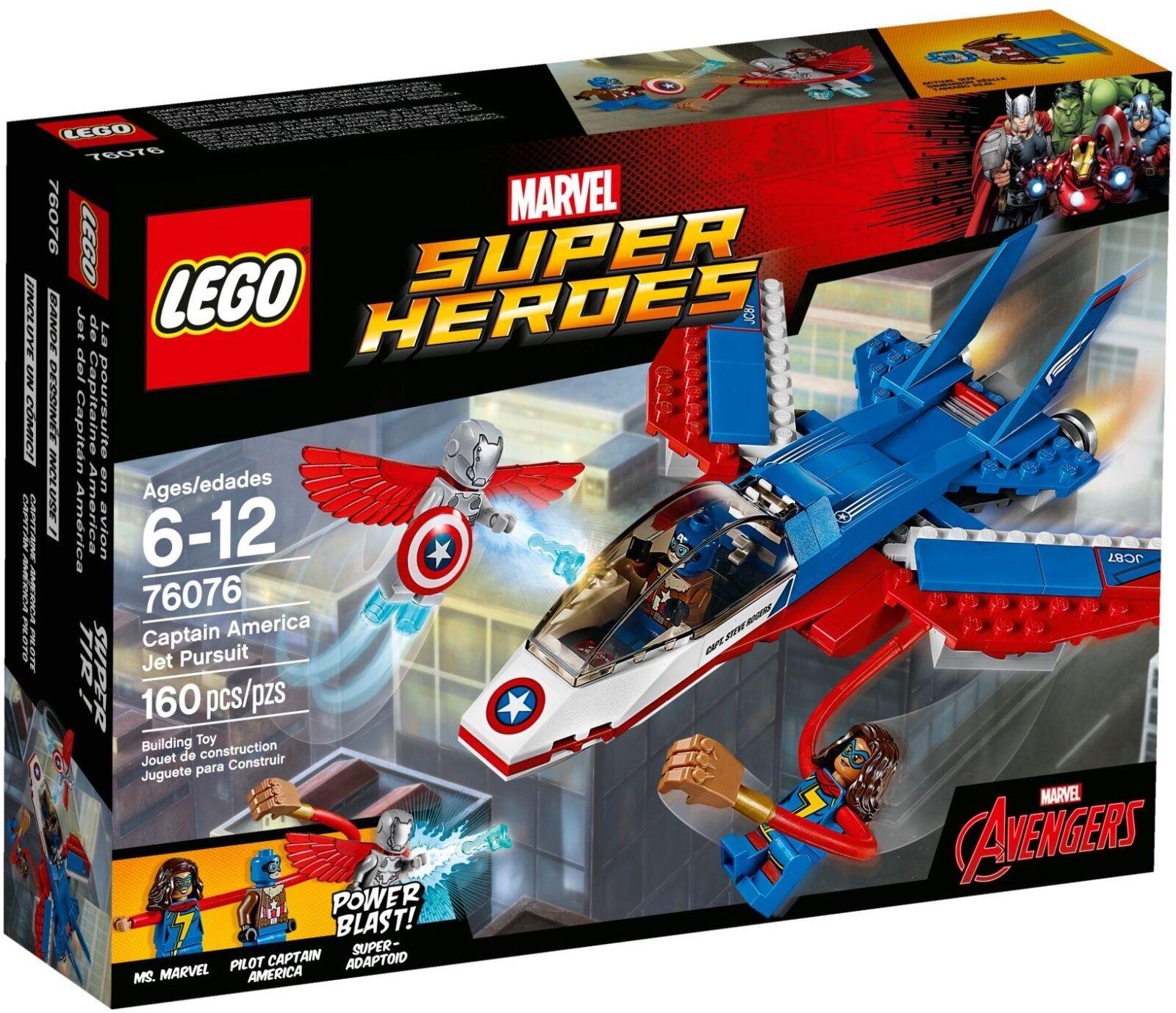 LEGO® Marvel Super Heroes 76076 Captain America  Düsenjet NEU OVP NEW MISB NRFB