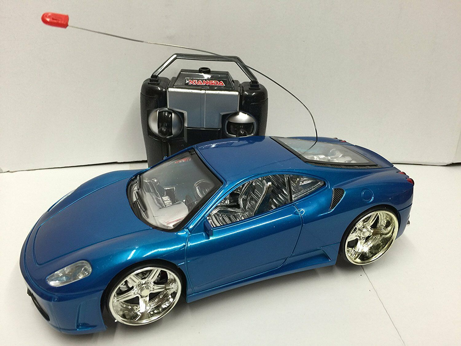 FERRARI SPIDER RADIO REMOTE CONTROL CAR LED LIGHTS FLASH LIGHT FOR GIRLS OR BOYS