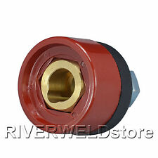 DKZ35-50 Panel socket connector Red Color 300-400A Fit TIG Welding Machine