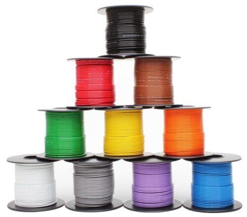 5 colors 100ft each Mil-Spec high temp wire cable 20 Gauge Tefzel M22759/16-20