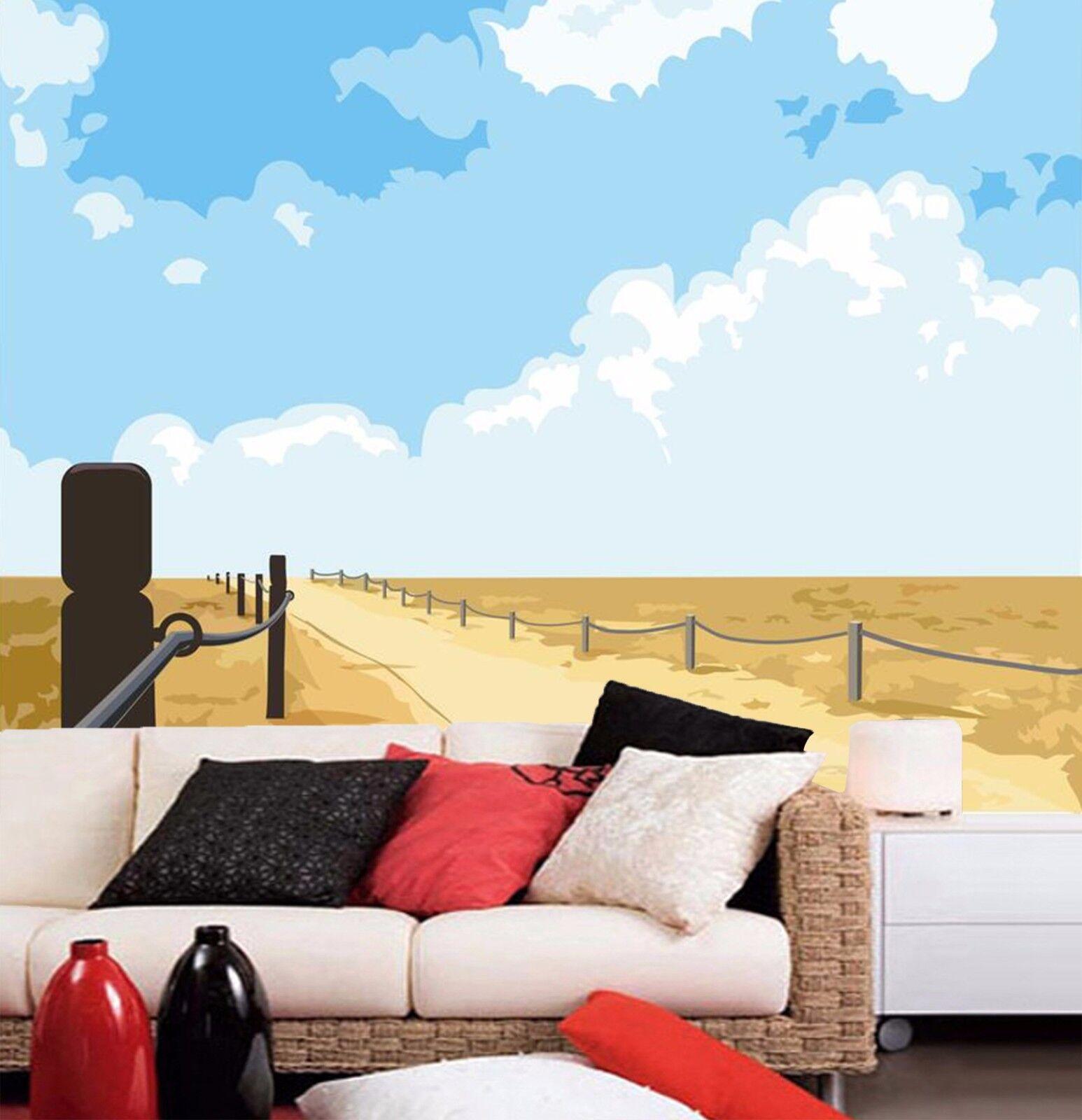 3D Himmel Wiese Gehweg 793 Tapete Wandgemälde Tapeten Bild Familie DE Kyra