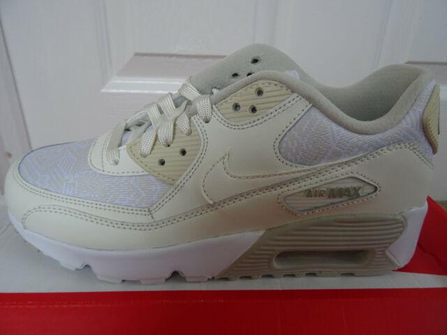 Nike Air Max 90 SE Mesh (GS) trainers 880305 100 uk 4 eu 36.5 us 4.5 Y NEW+BOX