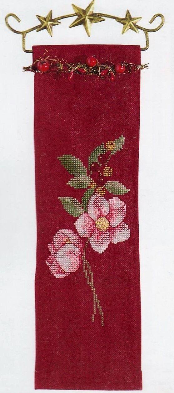 Rosen 10x32 Rico Wandbehang sticken,Kreuzstich Weihnachten Stickpackung