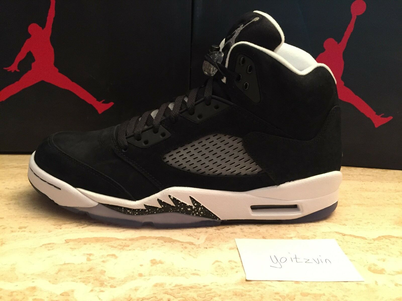 neue ds nike - air jordan v retro - nike 5 sz 11,0 oreo - 2013 (136027 035) f909be