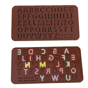 Brown Alphabet Heart Silicone Shape For Chocolate Mold Cake Mold 21*10.5*0.4cm
