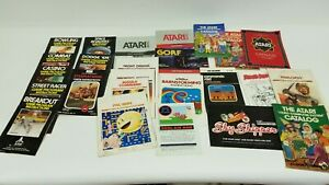 Vintage-Lot-of-Atari-2600-Manuals-Catalogs-Game-Instruction-Manuals