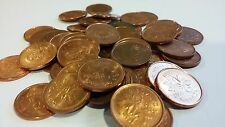 FULL ROLL RARE 2006 MAGNETIC RCM LOGO CANADA ONE CENT PENNIES CIRCULATED