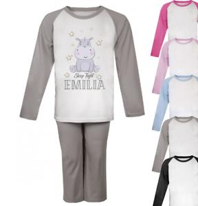Personalised Sleep Tight Pyjamas Girls Pyjamas Christmas Gifts Custom Animals