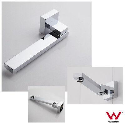 FLAT /& ROUND 180° Swivel Polished Chrome Wall Mount Spout for Bath Basin Sink