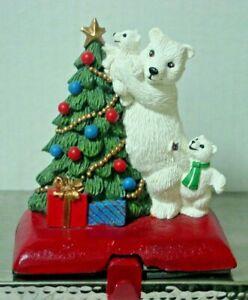 POLAR BEAR IN STOCKING /& ELF ORNAMENTS NIB COCA COLA CHRISTMAS TRIM A TREE