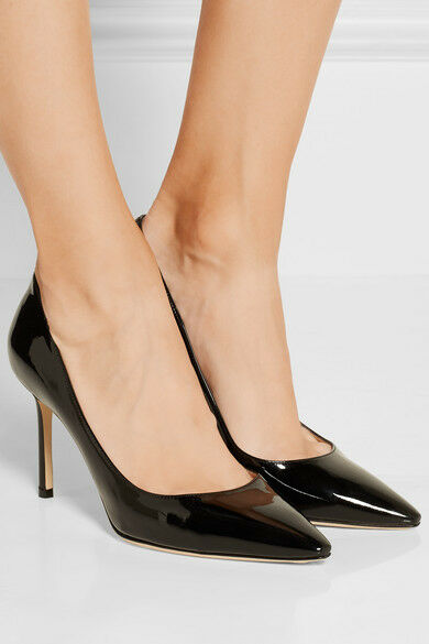 PERFECT CONDITION JIMMY CHOO Romy Patent Patent Patent Leather Pumps ( 595 New) 0e0def