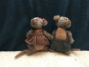Rare Macaroni And Cheese Soft Plush Mice Ganz Cottage Collectibles Ebay