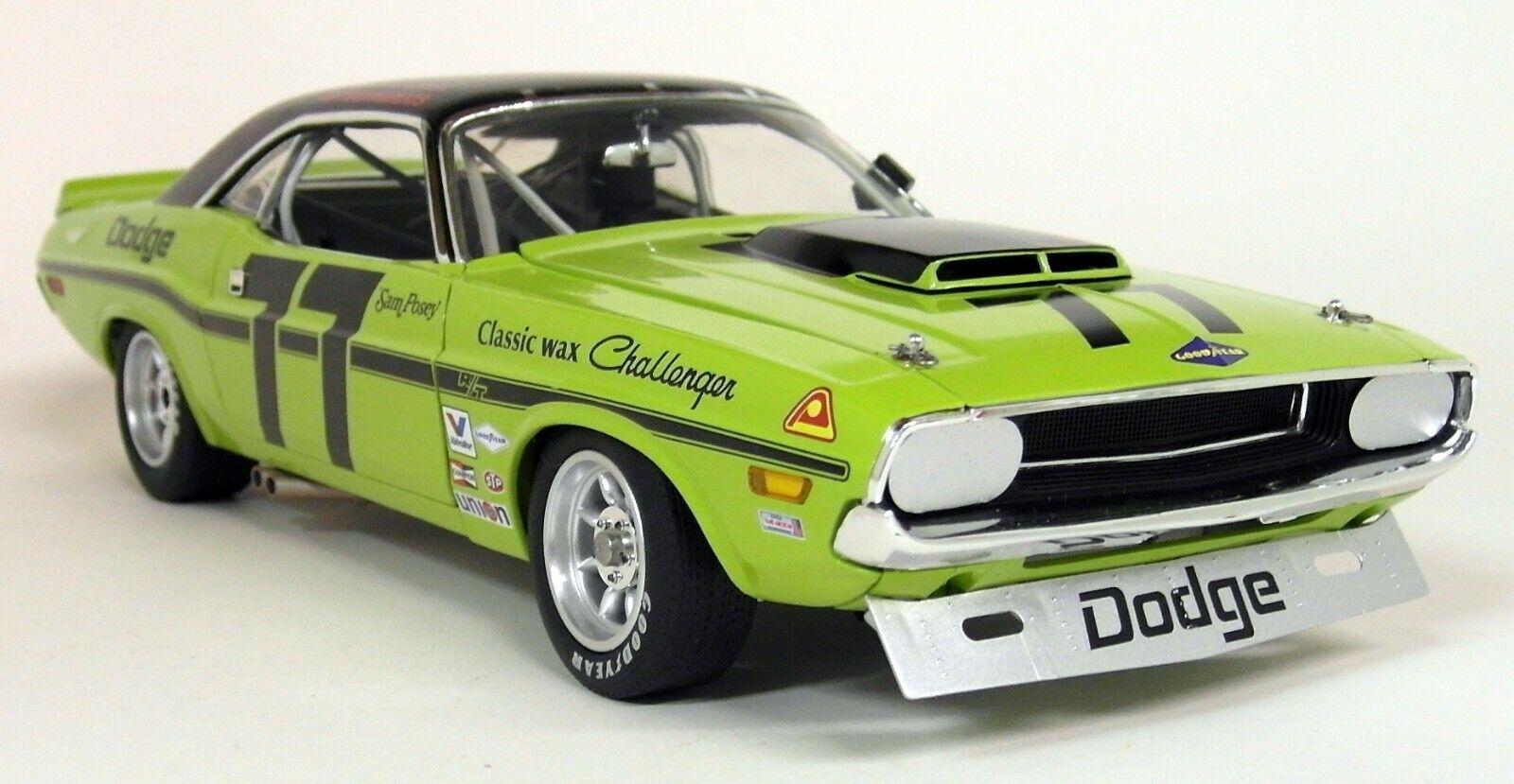 ACME échelle 1 18 1970 Dodge Challenger TRANS AM Sam Posey  77 Diecast Voiture Modèle