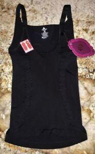 476ffe559013f LARRY LEVINE Black Firm Shapewear WYOB Torsette Tank Top NEW Womens ...