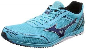 competitive price 78cfe 97e7f Details about Mizuno Running marathon shoes WAVE EKIDEN 11 U1GD1720 Sky  blue × navy F/S
