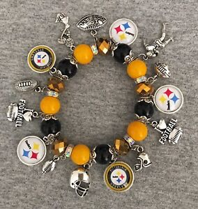 Image Is Loading Pittsburgh Steelers Bracelet