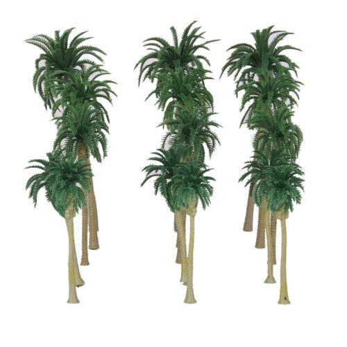130 Teile Grünes Modell Kokospalmen 1//65 /& 1//150 Zug Layout Landschaft