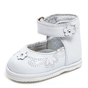 Baby Girl White Leather High Top shoes withHook & & Stitch