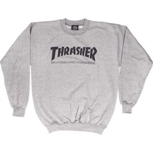 Thrasher Crewneck Skateboard Sweatshirt Gray