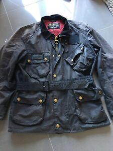 Mens-Barbour-International-Wax-Jacket-Size-Medium-Black