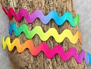 Jumbo-Ric-Rac-Rainbow-Ric-Rac-10mm-Ric-Rac-Bright-Embellishment-Crafts