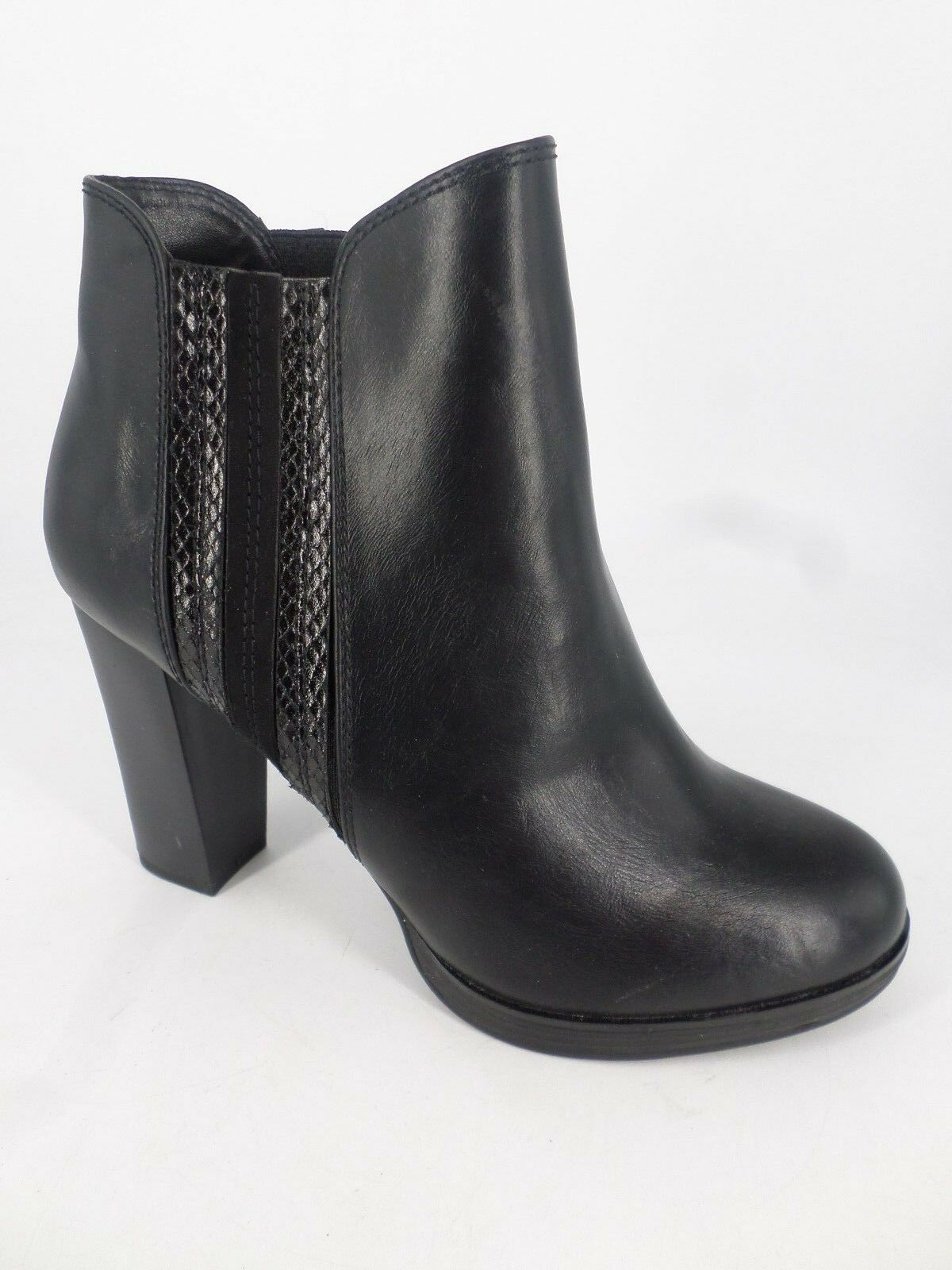 Anna Field Ladies High Heeled Ankle Boots Black UK 6 EU 39 LN085 RR 04