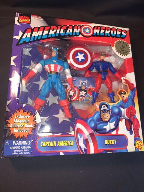 Toy Biz Marvel Super Heroes Captain America NRFC Gem Mint Action Figure Gorgeous