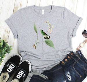Striped-Tailed-Hummingbird-Unisex-T-Shirt-Browns-Greens-Gray-Bella-Canvas