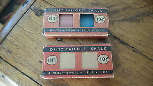 Vintage DRITZ TAILORS' CHALK Red,White,Blue, Used