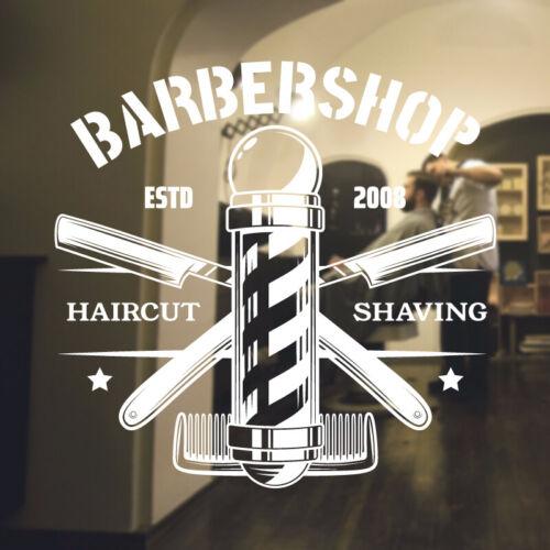 Barber Shop wall sticker hipster beard graphics quote decal art bb35