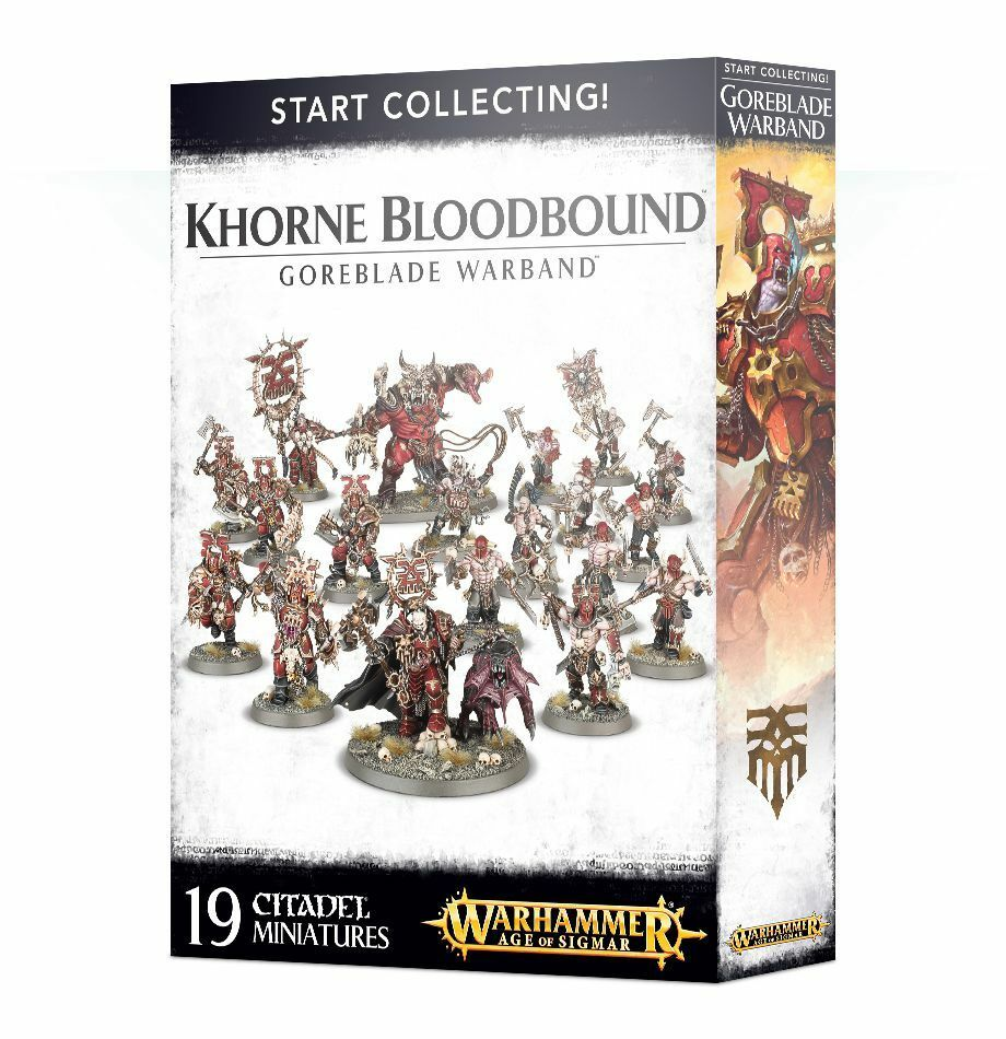 Start Collecting Khorne Bloodbound Goreblade Warband GW Age of Sigmar Chaos