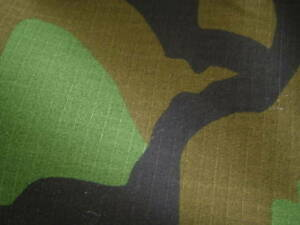 "US ARMY MILITARY COTTON WOODLAND CAMO CAMOUFLAGE FABRIC CLOTH 2 YARD 72"" X 60"""
