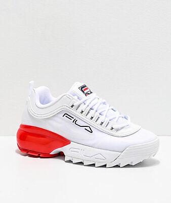 Mujer Fila Disruptor 2A Blanco Rojo Zapatillas Zapatos | eBay