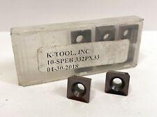 K Tool 10 Speb 332p New Carbide Inserts Grade X33 8pcs