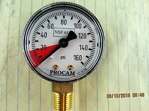 ALTO SHAAM Water Filter System Pressure Gauge FI-26384 160 psi [A5S2]