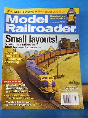Model Railroader Magazine 2014 July Small Layouts! Model Highway crossing  2940146904641 | eBay