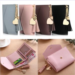 Mini-Women-039-s-Tassel-Wallet-Card-Holder-Clutch-Coin-Purse-Leather-Handbag-Purse