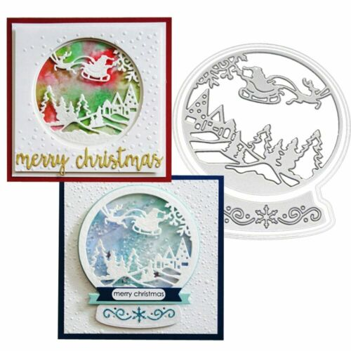 Santa Snow Globe Metal Dyes Scrapbooking Album Paper Card Making