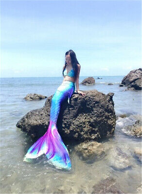 Newest Luxurious Kids Adult Women Mermaid Tail With Monofin Cosplay Costume