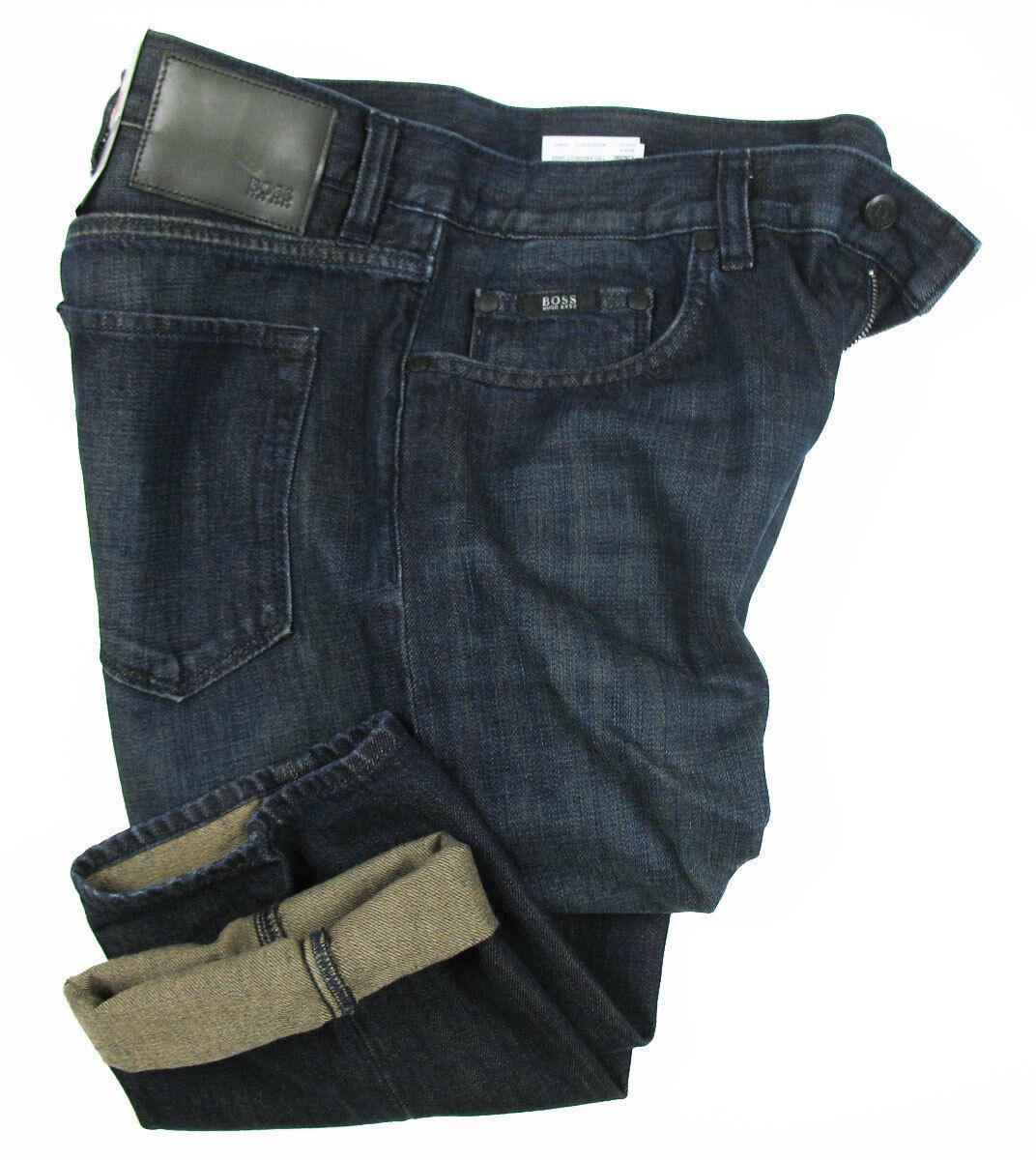 Boss nero Jeans Maine in 33 33 33 34 (regular fit) blu scuro TRATTATO eab489