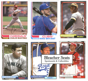 Details About 2017 Topps Archives Baseball Base Set Cards Choose From Card S 151 300