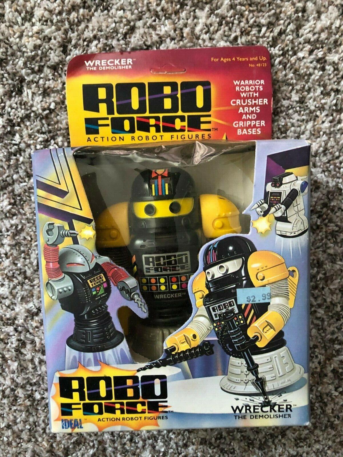 1984 IDEAL CBS giocattoli ROBO forza DEMOLITORE la DEMOLISHER mai tolto dtuttia scatola la cifra di