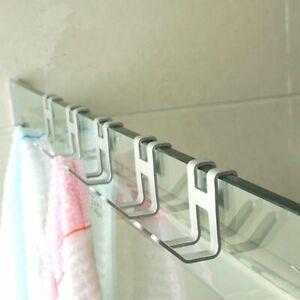 Aluminum-Metal-Door-Hook-Hanger-Free-Hole-Wall-Towel-Holder-Organizer-Hooks