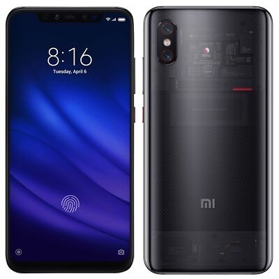 "Xiaomi Mi 8 PRO M8 128GB Transparent (FACTORY UNLOCKED) 6.21"" 8GB Ram Dual Sim"