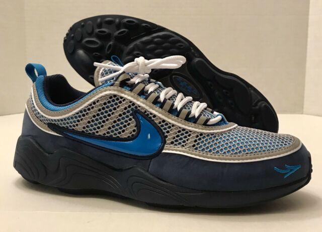 ab14114006b6 Mens Nike X Stash Air Zoom Spiridon 16 Harbor Blue Heritage Cyan ...