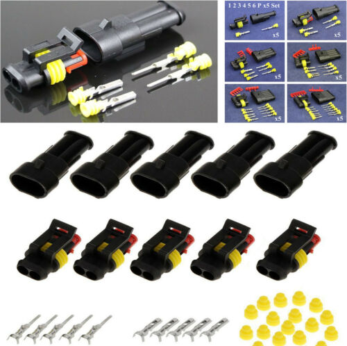 30Set Car Motorbike Truck Boat 1.5mm Terminal Electrical Wire Connector Plug Kit
