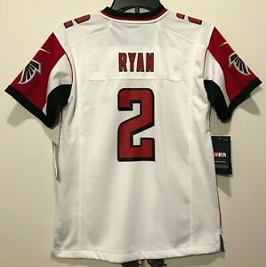 cheap for discount 6d509 7660d Details about New $75 Nike Youth Atlanta Falcons #2 Matt Ryan Football  Jersey Boy's Kids sizes